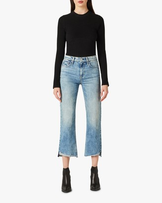 Hudson Rema High-Rise Straight Cropped Jeans