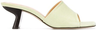 BY FAR Sculptured Low Heel Mules