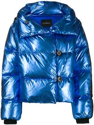 John Richmond metallic-effect puffer jacket