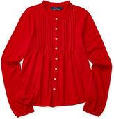 Ralph Lauren Pintucked Jersey Shirt