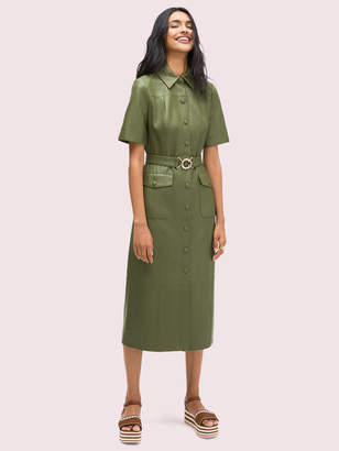Kate Spade Belted Leather Shirtdress