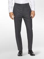 Calvin Klein Body Slim Fit Charcoal Plaid Suit Pants