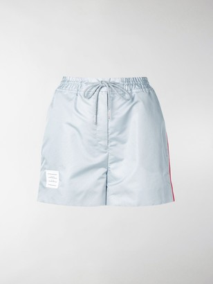 Thom Browne Logo-Patch Track Shorts
