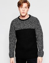 Brave Soul Sweater with Color Twist Panel