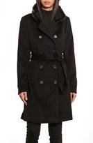 Lauren Ralph Lauren Women's Three Quarter Coat With Faux Fur Trim