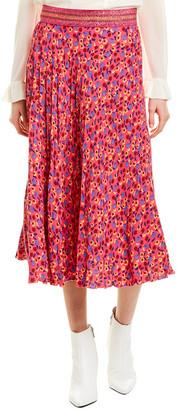 Anna Sui Carnation A-Line Skirt