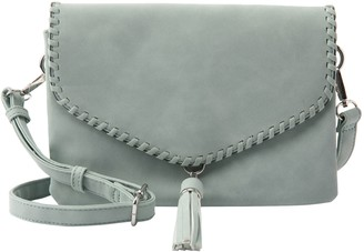 Violet Ray Whipstitched Flap Crossbody - Tessa