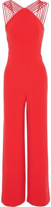 Halston Crepe Wide-leg Jumpsuit