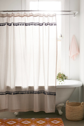 Urban Outfitters Tassel Stripe Shower Curtain