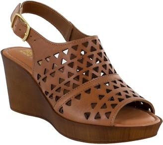 Bella Vita Italy Leather Wedge Sandals - Deb-Italy