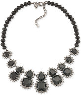 Carolee Hematite-Tone Jet Stone Beaded Statement Necklace