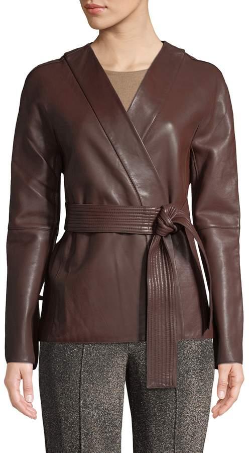 Diane von Furstenberg Women's Leather Wrap Jacket