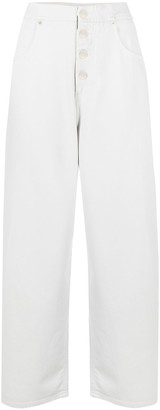 MM6 MAISON MARGIELA Cropped High-Waisted Jeans