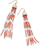 Thalia Sodi Gold-Tone Long Beaded Drop Earrings, Only at Macy's