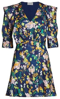 Tanya Taylor Audrey Floral Mini A-Line Dress
