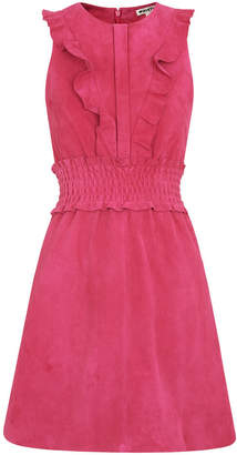 Whistles Louise Frill Suede Dress