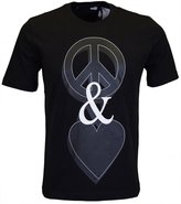 Moschino T Shirt Peace & Love in Black-S
