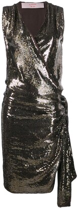LANVIN Pre-Owned 2004's Sequin Envelope Dress