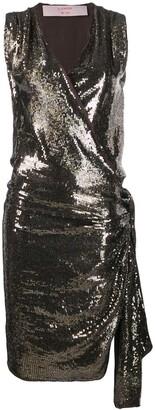 Lanvin Pre Owned 2004's Sequin Envelope Dress