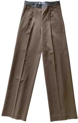 Fabiana Filippi Camel Cotton Trousers for Women