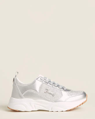 Juicy Couture Silver Enchanter Glitter Low-Top Sneakers
