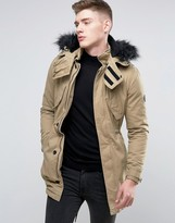 NATIVE YOUTH Parka with Faux Fur Hood