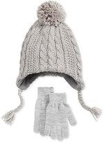 Berkshire Boys' 2-Pc. Cable-Knit Pom-Pom Hat & Gloves Set