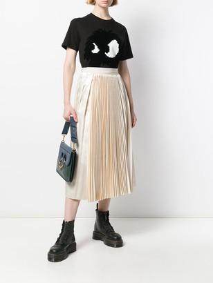 Sara Lanzi High-Waist Pleated Skirt