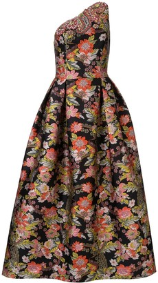 Andrew Gn printed embroidered gown