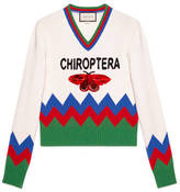 Gucci Wool knitted sweater with Chiroptera appliqué