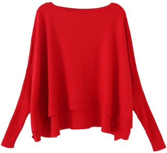 Goodnight Macaroon 'Ragna' Boat Neck Bat Sleeves Fine Knit Top (6 Colors)