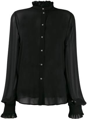 John Richmond ruffle trimming shirt