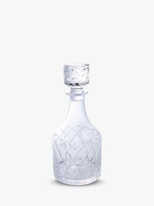 clear Royal Brierley Harris Cut Lead Crystal Spirit Decanter,