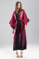 Josie Natori Floral Veil Robe