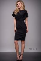 Jovani Cap Sleeve with Cutout Black Cocktail Dress M53167