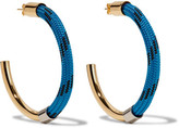 Marni Gold-tone Cord Earrings - Blue