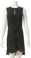 3.1 Phillip Lim Sleeveless Knot Front Silk Dress