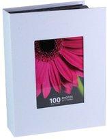 Kiera Grace Photo Album, Holds 100 5-Inch by7-Inch Photos, White