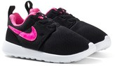 Nike Black and Pink Roshe One Trainers