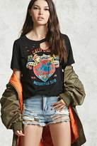 Forever 21 FOREVER 21+ Ripped Moto Club Graphic Tee