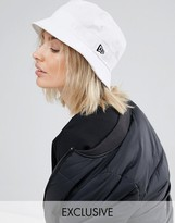 New Era White Bucket Hat