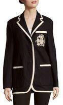 Dries Van Noten Linen & Wool Long-Sleeve Jacket