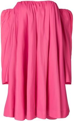 Calvin Klein Bardot Ruffled Dress