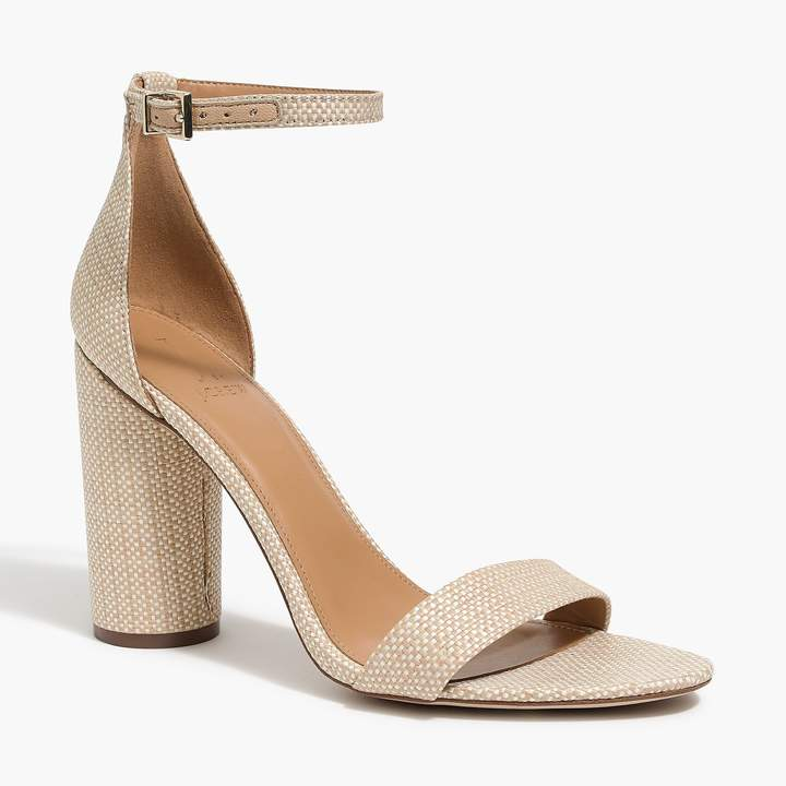 bb77aefb5a5 Raffia high block heel sandals