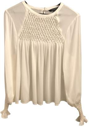 Tara Jarmon Ecru Silk Top for Women