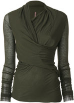 Rick Owens Lilies wrap top - women - Cotton/Polyamide/Viscose - 38