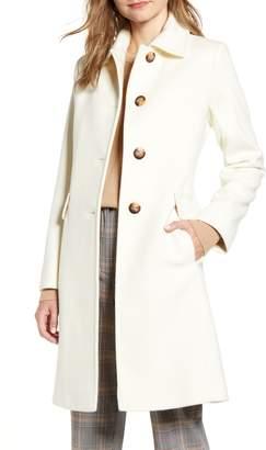 Fleurette Single Breasted Wool Reefer Coat