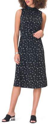 Leota Aria Floral Sleeveless Jersey Midi Dress