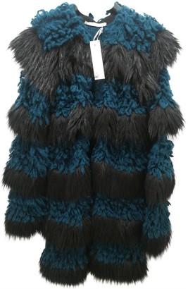 Annarita N. Green Wool Coat for Women