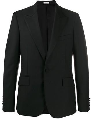 Alexander McQueen Stitched Lapel Tuxedo Jacket